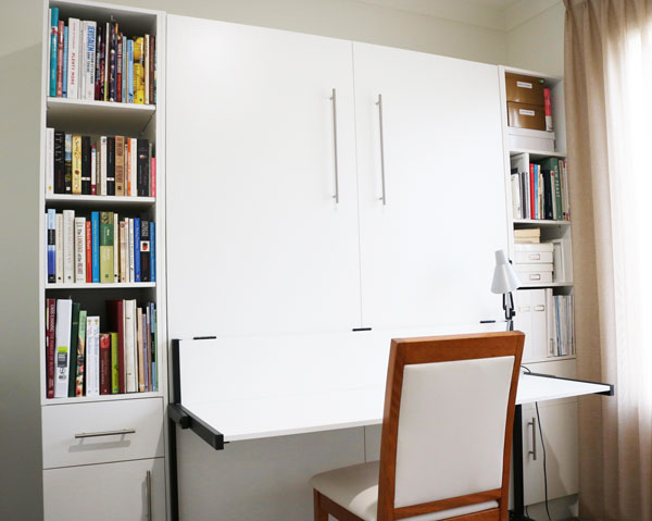 wall bed and desk