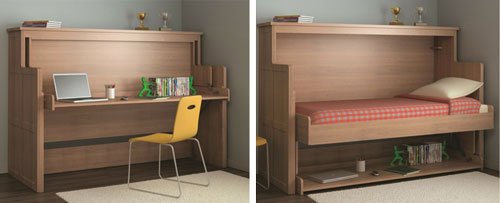 horizontal wall beds