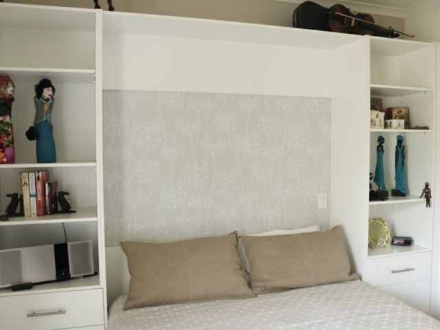 wall bed back view