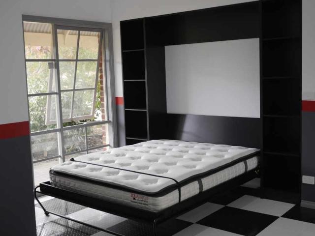 alpha bed open black melamine